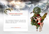 Fantasy Web Clocks