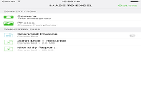 Image to Excel Converter