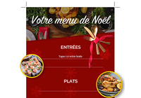 Modèle Word - Menu de Noël