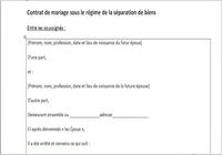Modèle de contrat de mariage