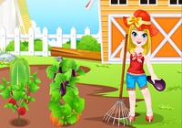Petite fille jeux de la ferme