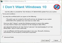 I Don't Want Windows 10