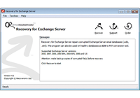 Recovery for Exchange Server