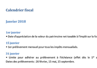Calendrier fiscal 2018 (Word)