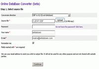 Online Database Converter