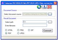 PDF/DOC/HTML/PPT/GIF/JPG files converter