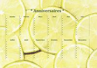 Calendrier d'anniversaires