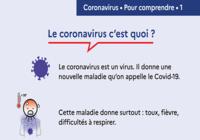 Affiche prévention Coronavirus - C'est quoi et comment ça s'attrape ?