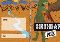 Carte d'invitation anniversaire Les Dinosaures