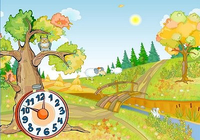 Autumn Clock Screensaver
