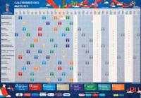Calendrier de la Coupe du monde 2018 (Officiel)