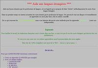 Aide aux langues étrangères