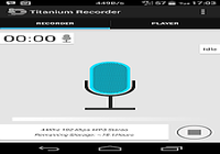 Enregistreur de voix en titane