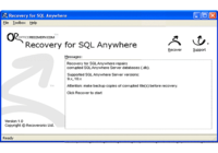 Recovery for SQL Anywhere