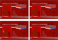 Carte de membre de Club de boxe
