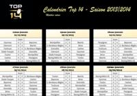 Calendrier top 14 - Saison 2013/2014
