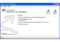 Recovery for FileMaker