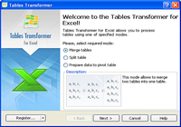 Tables Transformer for Excel