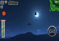 Flight simulator night plane