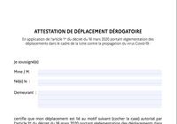 Attestation de déplacement Covid 19 [MAJ]