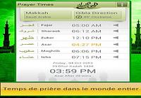 Horaires de prières et Qibla