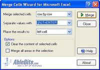 Merge Cells Wizard for Excel