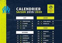 Calendrier de l'OM - Ligue 1 - 2019-2020