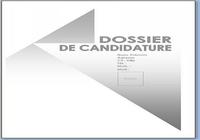 Page de garde dossier de candidature