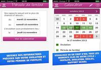 Mon ovulation : calendrier de fertilité iOS