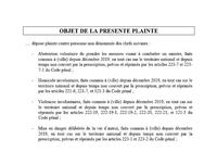 COVID-19 – DÉPÔT DE PLAINTE FACILITÉ – Personnel Médical