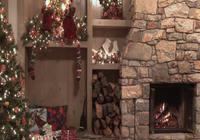 Logiciel gratuit Fond d'écran animé feu de cheminée Noël