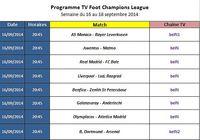 Programme TV Foot Champions League