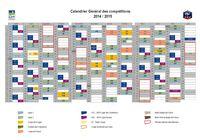 Calendrier général des compétitions de football 2014/2015