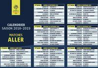 Calendrier Ligue 1 2018 - 2019