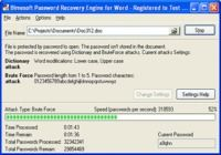 Password Recovery Engine for Word