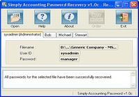 Simply Accounting Password Recovery