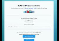 Free software FLAC To MP3 Converter Online 1.0