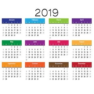 Calendrier 2019 Png.Download Calendrier 2019 Simple Image For Windows Freeware