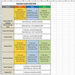 Calendrier Libreoffice 2019.Download Calendrier Vacances Scolaires 2018 2019 2018 2019