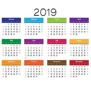 Calendrier Francais 2019.Telecharger Calendrier 2019 Simple Image Pour Windows Freeware