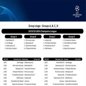 Champions League 2019 Calendrier.Download Ligue Des Champions Calendrier 2019 Phase De