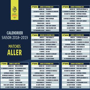 Foot Calendrier Ligue 1.Telecharger Calendrier Ligue 1 2018 2019 2018 2019 Pour