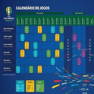 Calendario Coppa America.Calendrier De La Copa America 2019 Pdf