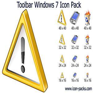 Download Toolbar Windows 7 Icon Pack   Shareware