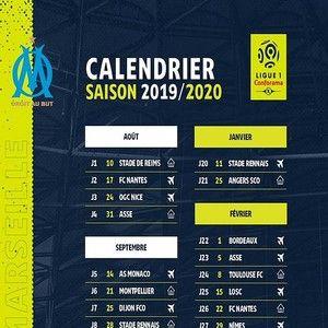 Calendrier Des Matchs De Lom.Telecharger Calendrier De L Om Ligue 1 2019 2020 19 20