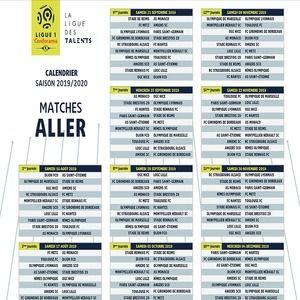 T 233 L 233 Charger Calendrier Ligue 1 Pdf 2019 2020 1920 Pour