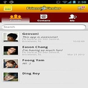 how to use digi friend finder