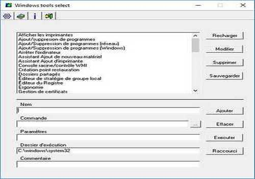 Windows tools select