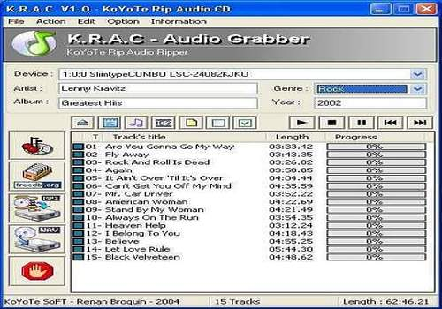 Free CD Ripper - KRAC