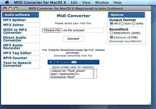 Download Midi Converter for Mac | Shareware